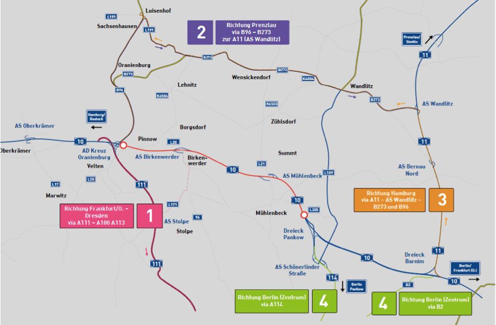 Увага, ремонти! З неділі важкий проїзд на трасі А10 біля Берліна, з понеділка – на А37 у Нідерландах
