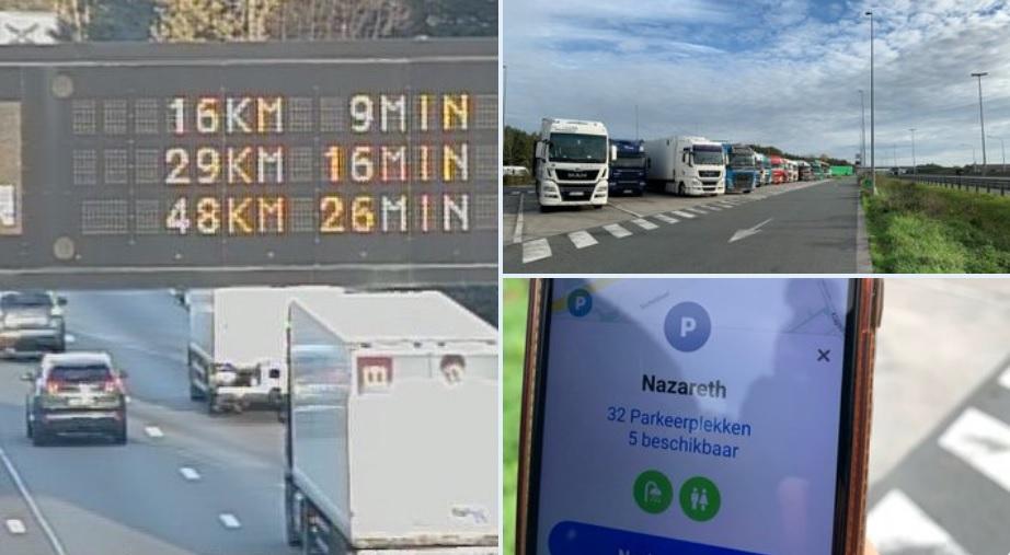 Мобі-додаток і табло над дорогою – нове інформування про вільні паркомісця для вантажівок