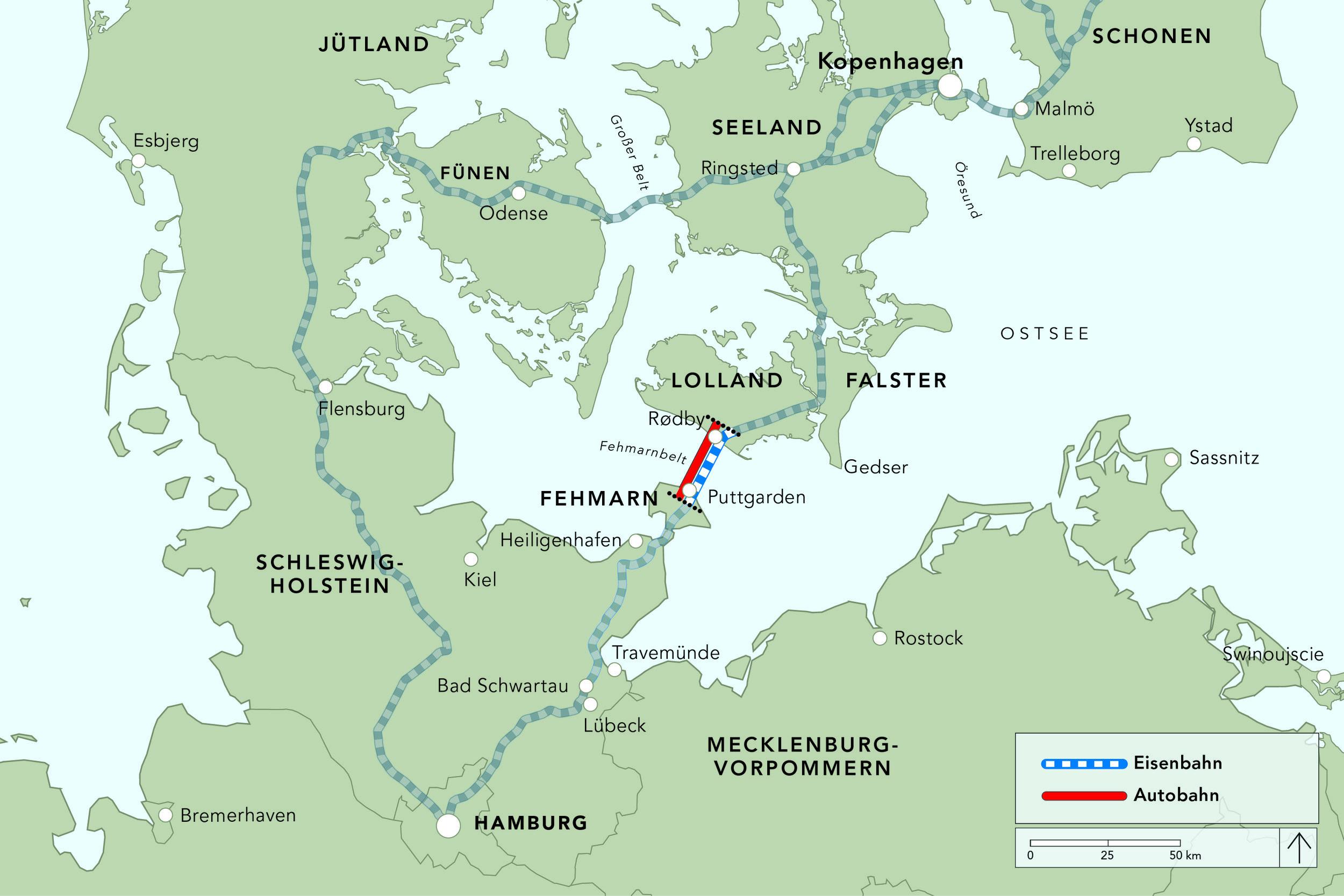 """Між Данією і Німеччиною спорудять найдовший у світі """"змішаний"""" підводний тунель"""