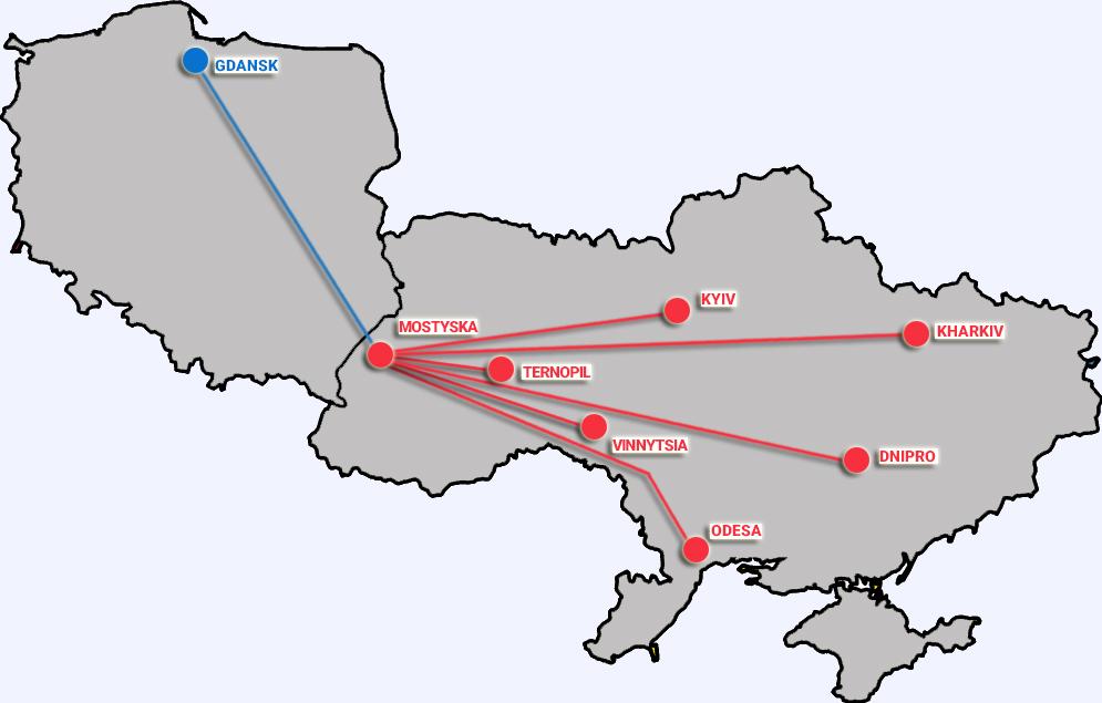 Відкрито новий залізничний маршрут – із порту Гданськ у шість міст України