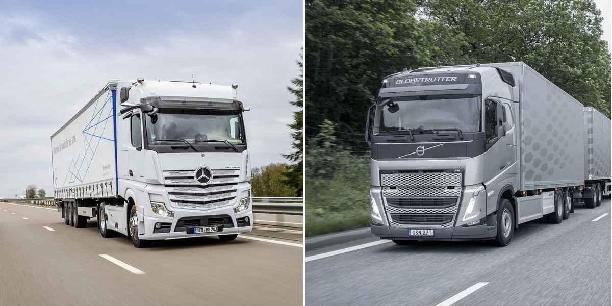 Volvo і Daimler почали спільну розробку паливних елементів для водневих вантажівок